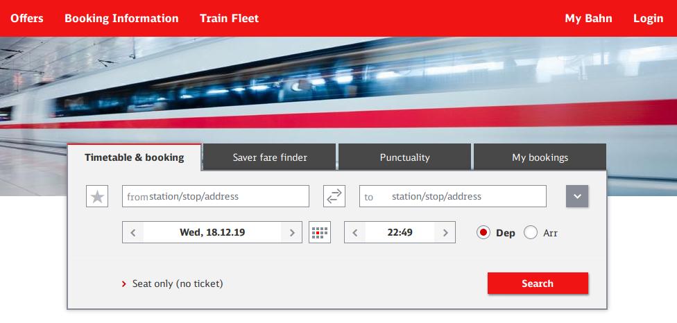ตั๋วรถไฟไปปราก