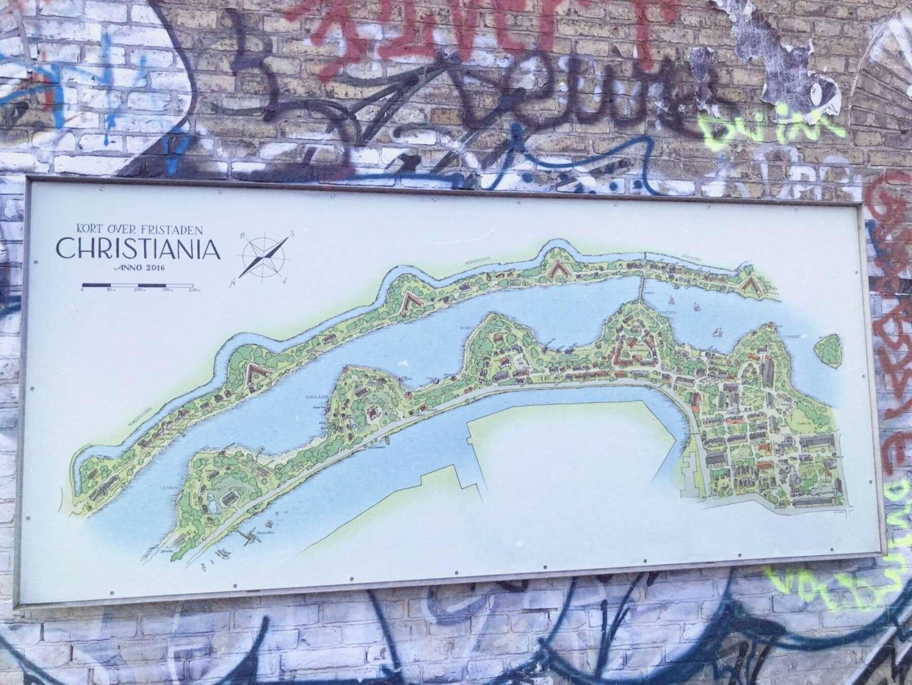 แผนที่คริสเทเนีย (Christiania)