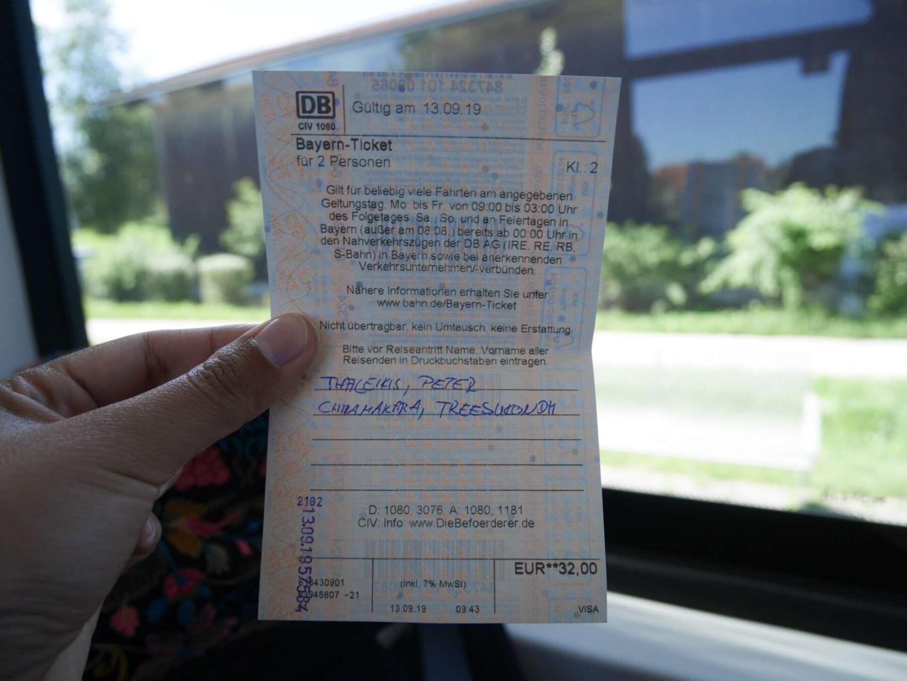 ตั๋วรถไฟไปปราสาทนอยชวานสไตน์