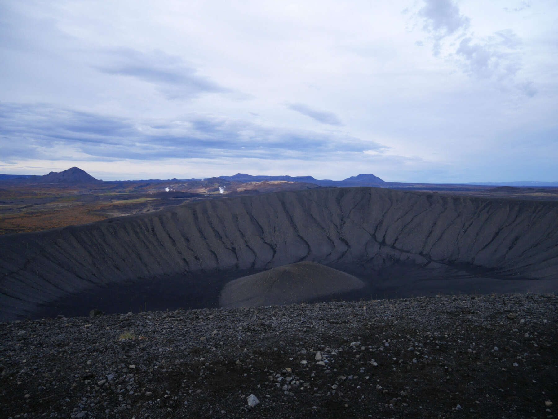 Hverfell volcanic crater